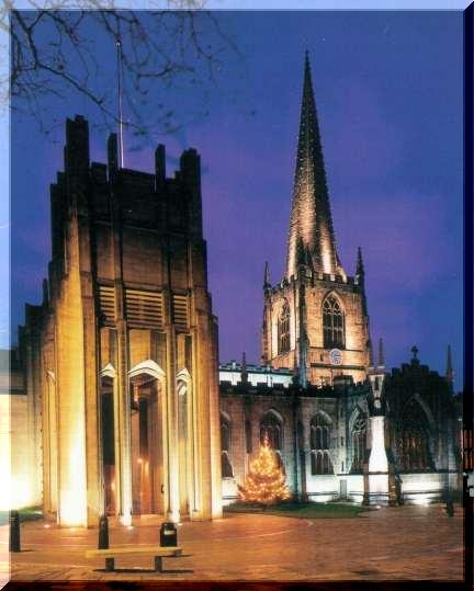 Sheffield Cathedral, Church at night