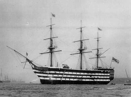 The Victory, used as a training ship during W.W.1